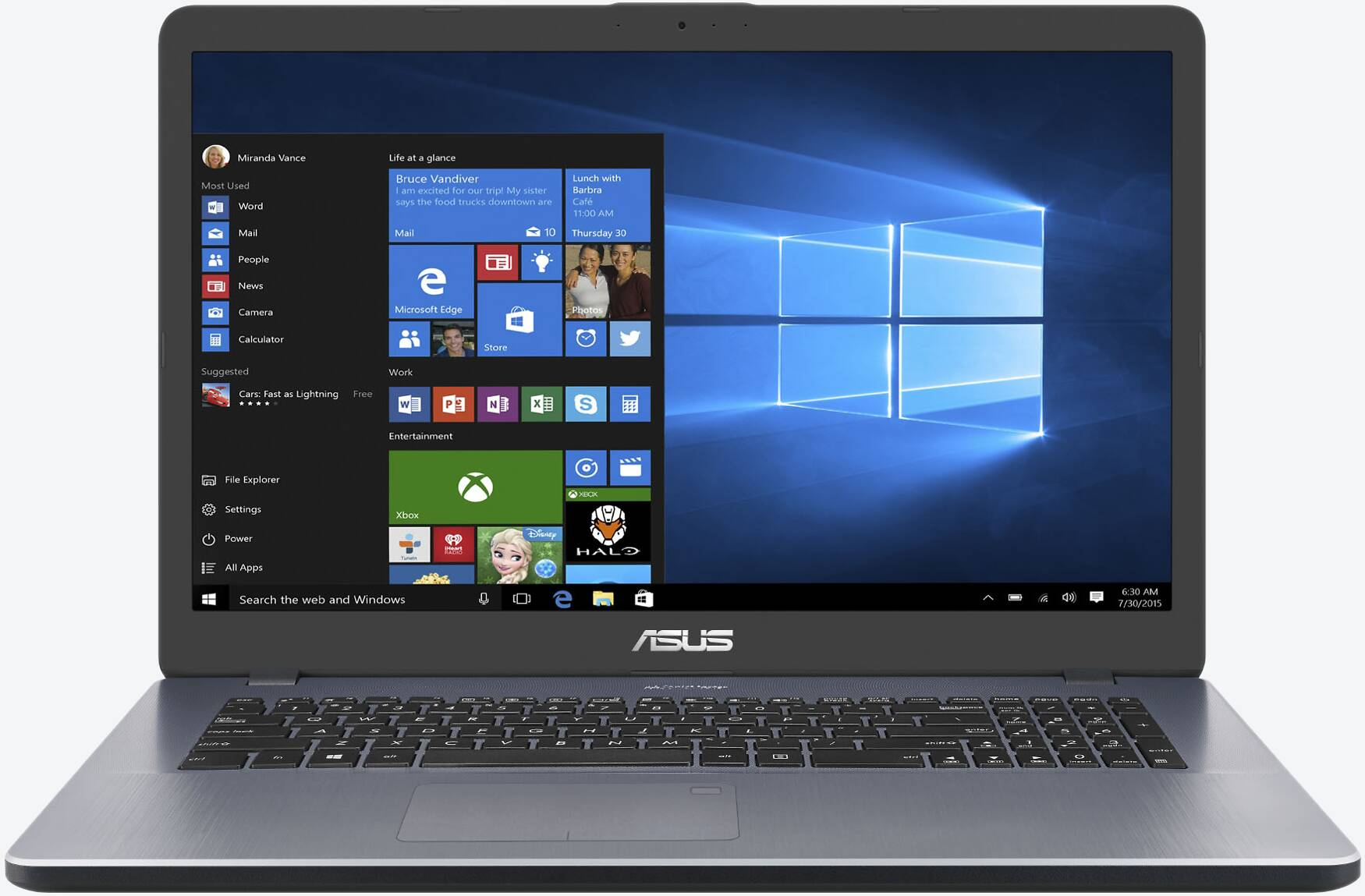 ASUS VivoBook 17 X705UA-BX305T Grau