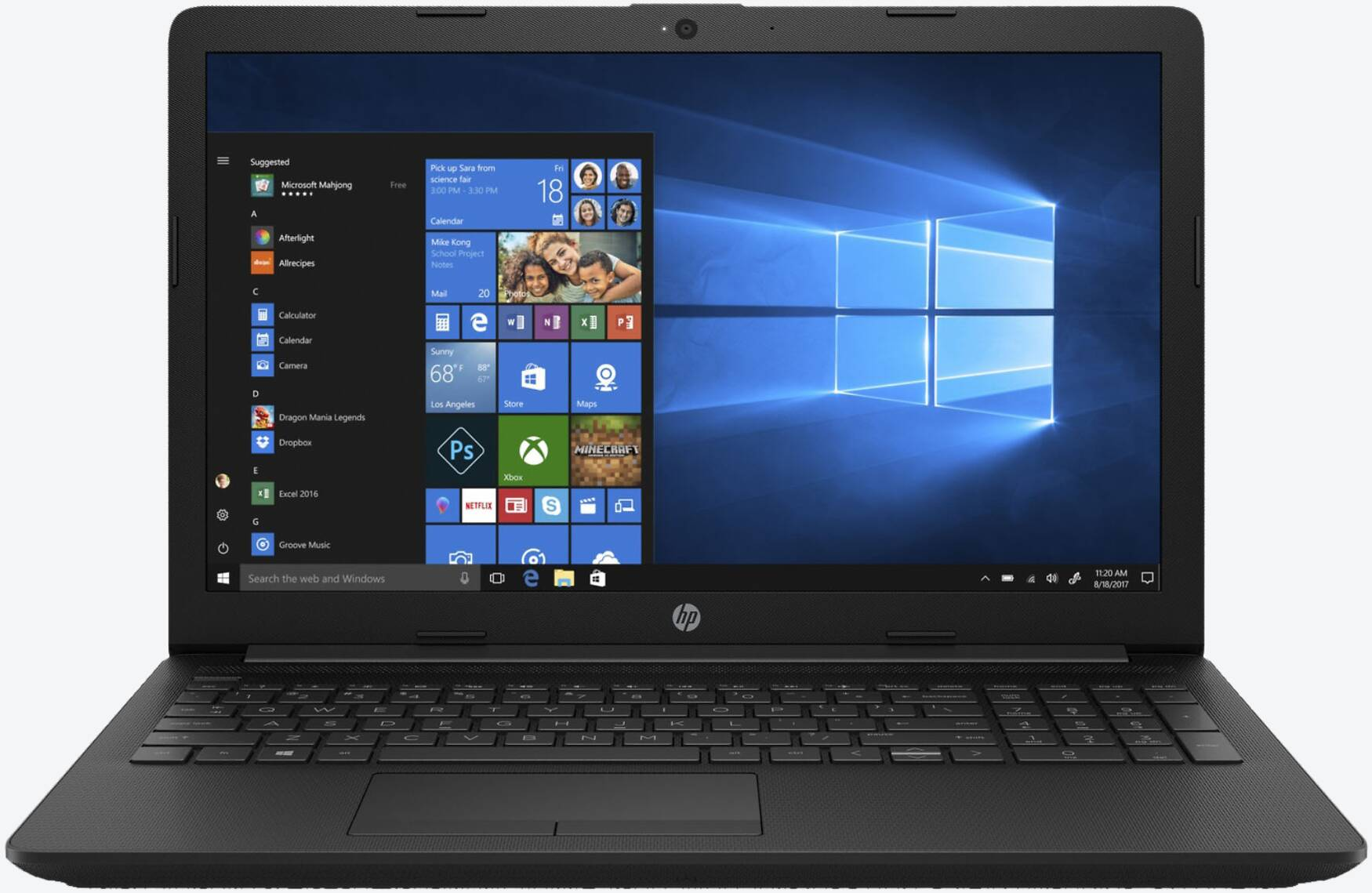 HP 15-da0104ng Schwarz