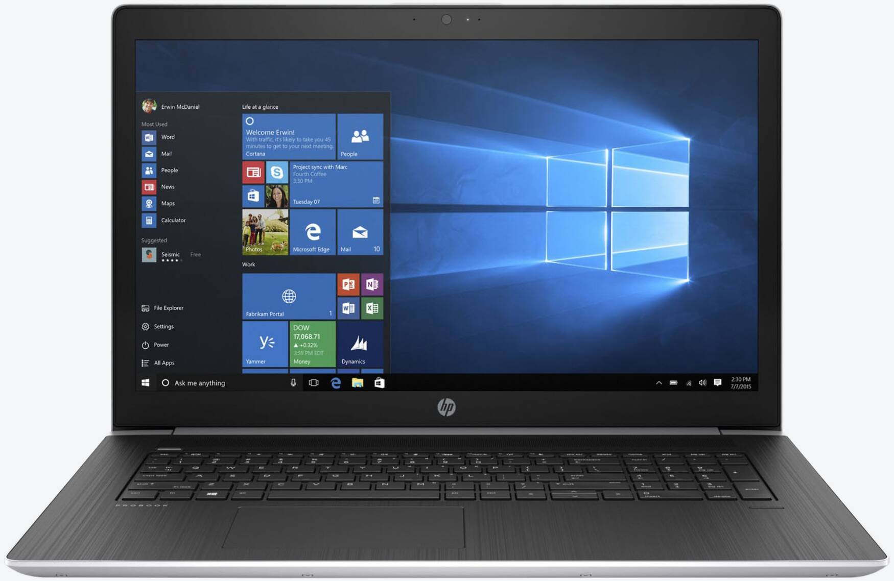 HP ProBook 470 G5 (4QW92EA) Silber