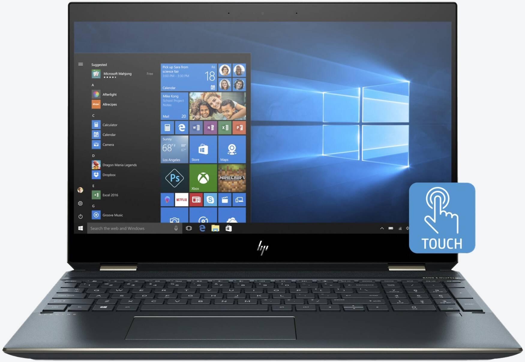 HP Spectre x360 15-df0126ng 4K Blau