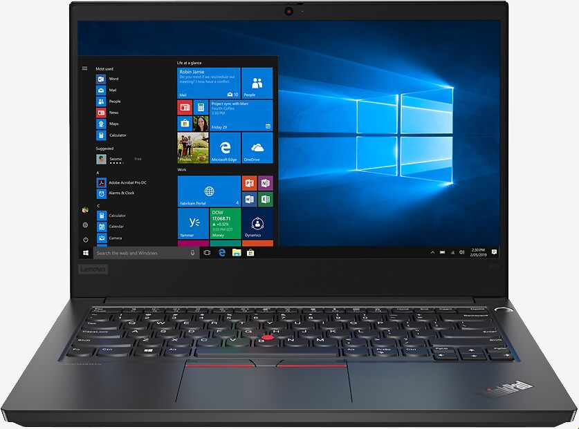 Lenovo ThinkPad E14 Schwarz 20RACTO1WWDEDE0